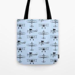 Biplanes // Light Blue Tote Bag