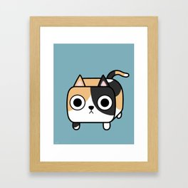 Cat Loaf - Calico Kitty Framed Art Print