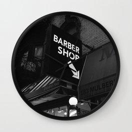 Manhattan Barber Shop Wall Clock