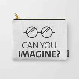 Can You Imagine John Classic Glasses Design Carry-All Pouch