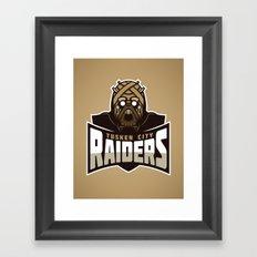 Tusken City Raiders - Tan Framed Art Print