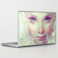 ice Laptop & iPad Skins featuring Elsa by Anna Dittmann