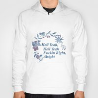 rap Hoodies featuring Floral Rap #1 by Mei Lee