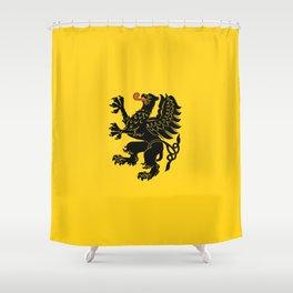 flag of pomorskie or pomerania Shower Curtain