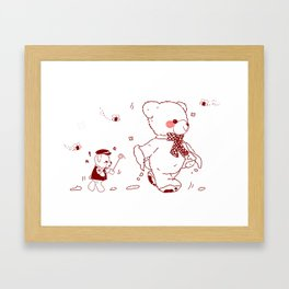 The Adventures of Bear and Baby Bear-Who took the honey Framed Art Print