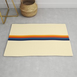 Retro Stripes Summer of Love Rug