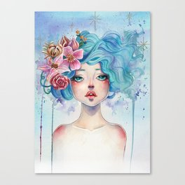 Blue Hair Canvas Print