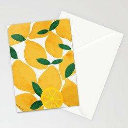 lemon mediterranean still life Stationery Cards