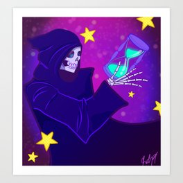 Grim Reaper Space and Time Art Print