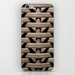 Background wicker rods iPhone Skin
