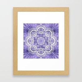 Mandala Lavender Colorburst Framed Art Print