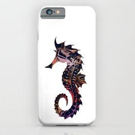 Art seahorse print, tribal motifs, nautical theme iPhone Case
