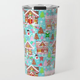 Gingerbread House Christmas Winter Candy, sweets.christmas gift, holiday gift for kids of all ages, Travel Mug