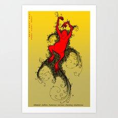 Chinese Zodiac Monkey Art Print