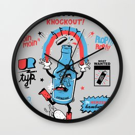 drunken astra by s-fly Wall Clock