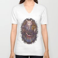 scales V-neck T-shirts featuring scales by Miru