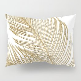 Palm Leaves Finesse Line Art with Gold Foil #2 #minimal #decor #art #society6 Pillow Sham