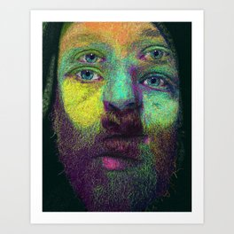 String theory color study II Art Print