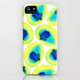 Electric Avocados iPhone Case