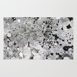 Close up background of melted ice. Rug