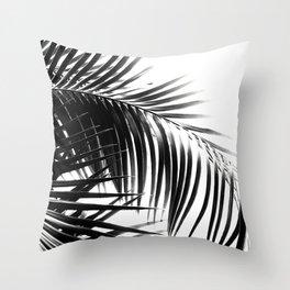 Palm Leaves Black & White Vibes #3 #tropical #decor #art #society6 Throw Pillow