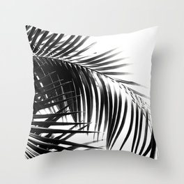 Palm Leaves Black & White Vibes #3 #tropical #decor #art #society6 Throw Pillow