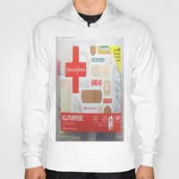 band Hoodies featuring Band Aid by Robin Curtiss