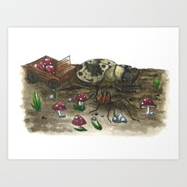 Little Worlds: The Harvest Art Print