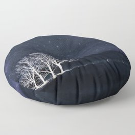 The Fabric of Space and the Boundary of Knowledge Floor Pillow