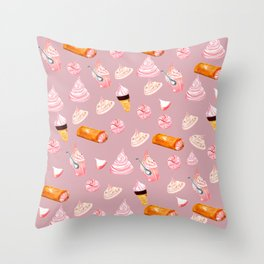 sweet merengues Throw Pillow
