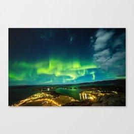 Lights over Lauvsnes Canvas Print