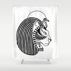 Tefnut Egyptian Goddess Shower Curtain