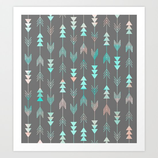Aztec Arrows Art Print
