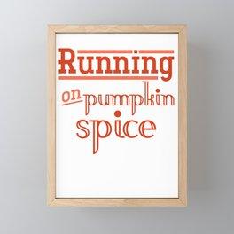 Pumpkin Spice Framed Mini Art Print