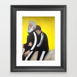 Bernie and Manners Framed Art Print