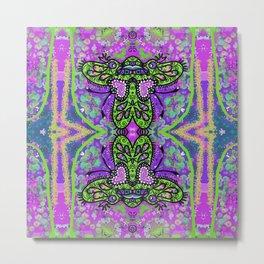 Butterfly Beetle Funk Metal Print