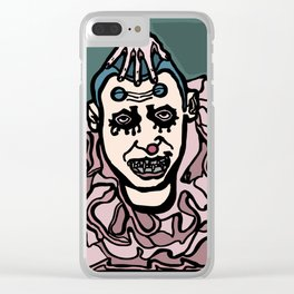Profoundly Insane Clown Clear iPhone Case