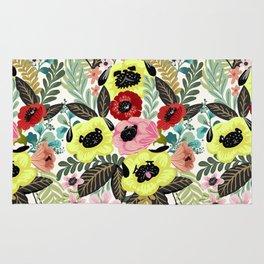 Flower Pugs Rug