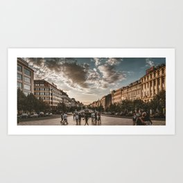 Wenceslas Square in Prague (Czech Republic) Art Print