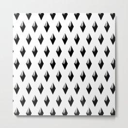 Black Studs on White Metal Print