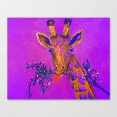 Psychedelic Giraffe Canvas Print