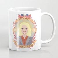 leslie knope Mugs featuring Leslie Knope by heymonster