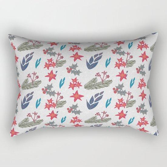 Christmas Floral Rectangular Pillow
