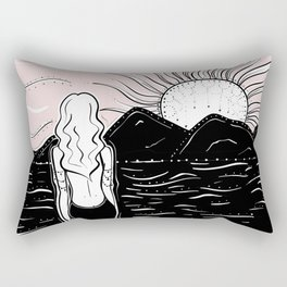 Sunrise Meditation Rectangular Pillow