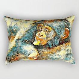 AnimalArt_Chimpanzee_20170604_by_JAMColorsSpecial Rectangular Pillow