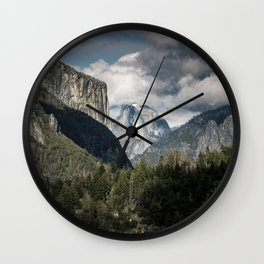 Half Dome Clouds - Yosemite National Park Wall Clock