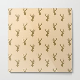 Stag Head Pattern  Metal Print