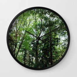 Green Trees Wall Clock