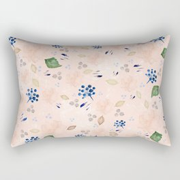 Watercolor and gold nature pattern Rectangular Pillow