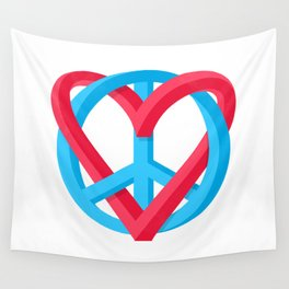 Peace + Love Wall Tapestry